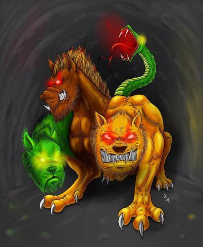 """""""Hellhound"""" by The Art of Tibia"""