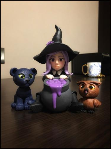 """Midnight Panther Doll, Wicked Witch, Omniscient Owl"" by Makadamia"