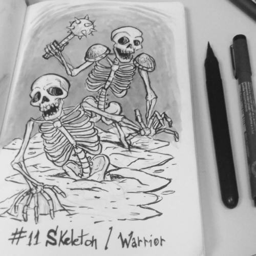 """""""Skeleton and Skeleton Warrior"""" by Elias Archanjo"""
