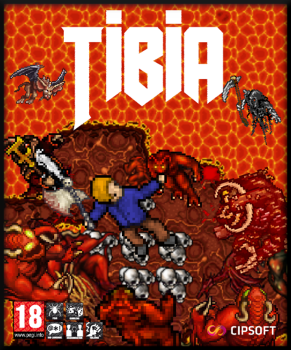 """""""Tibia cover in a Doom style"""" by Straznik Bucyfal"""