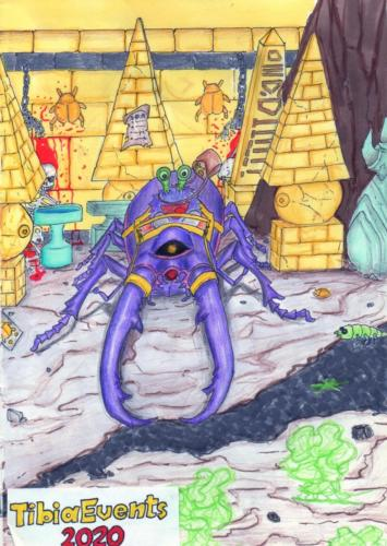 """""""Eventholder and Ancient Scarab"""" by Aras Artist"""