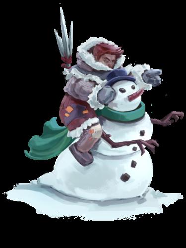 Caped Snowman