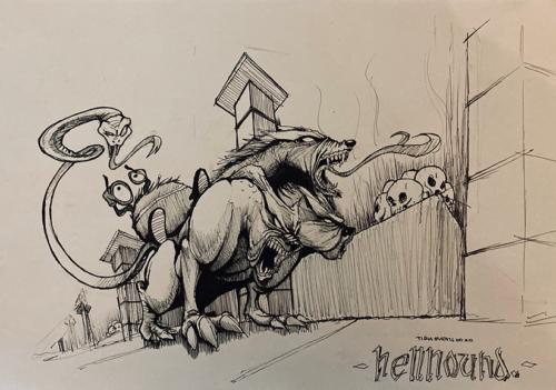 """""""Hellhound"""" by Meadek"""