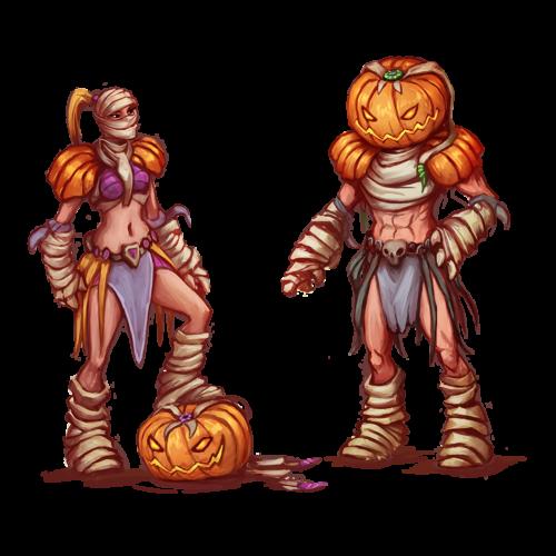 Pumpkin Mummy Outfit