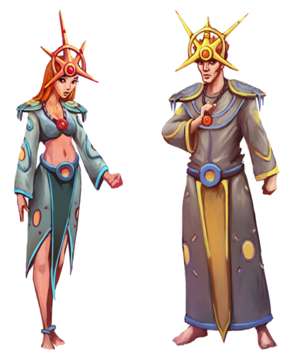 Sun Priest Outfit