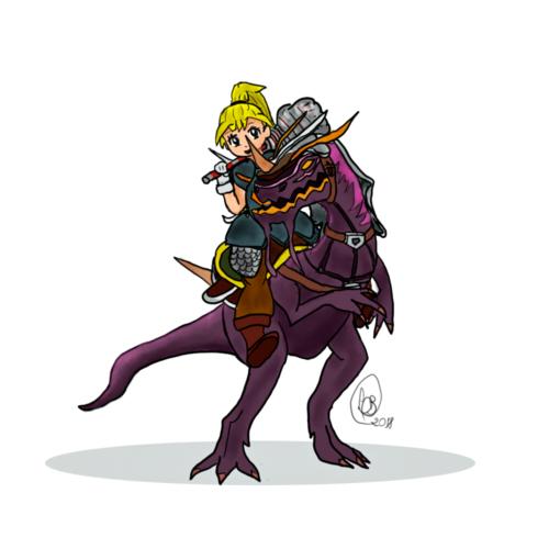 """""""Warrior with Shadow Draptor""""  by Luan Beatriz Draw"""