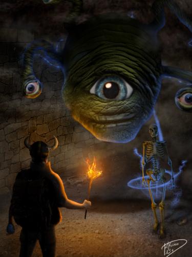 Bonelord Encounter by Krazel1